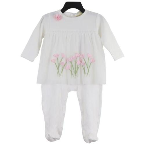 baby girl s long sleeve footie outfit