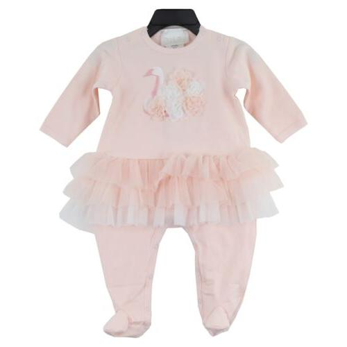 baby girl s long sleeve tutu footie
