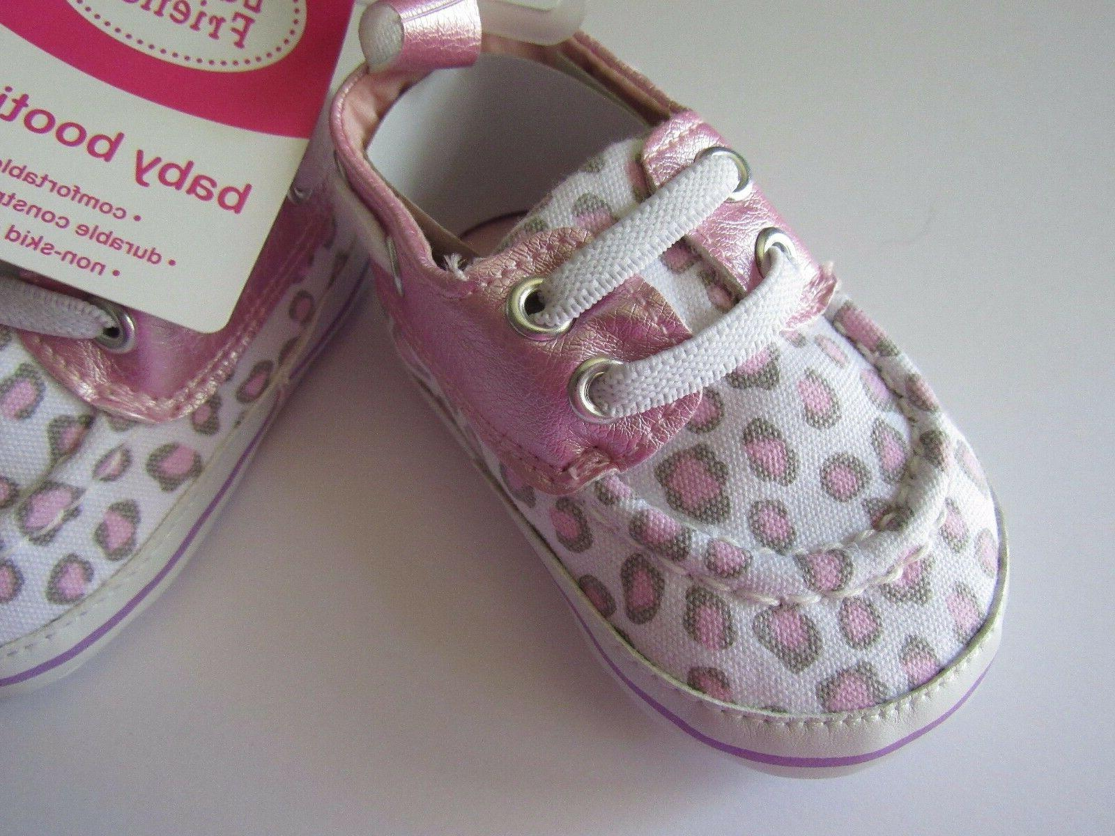 Luvable Friends Baby Girl Slip-On Baby Bootie Pink Leopard P