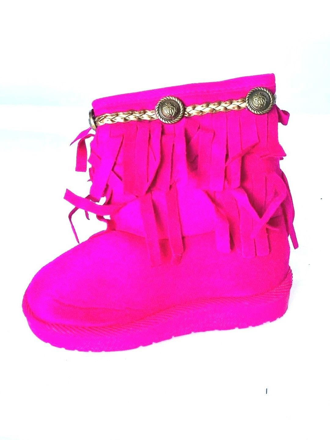 BABY BOOTS FRINGE SHOES SIDE ZIPPER