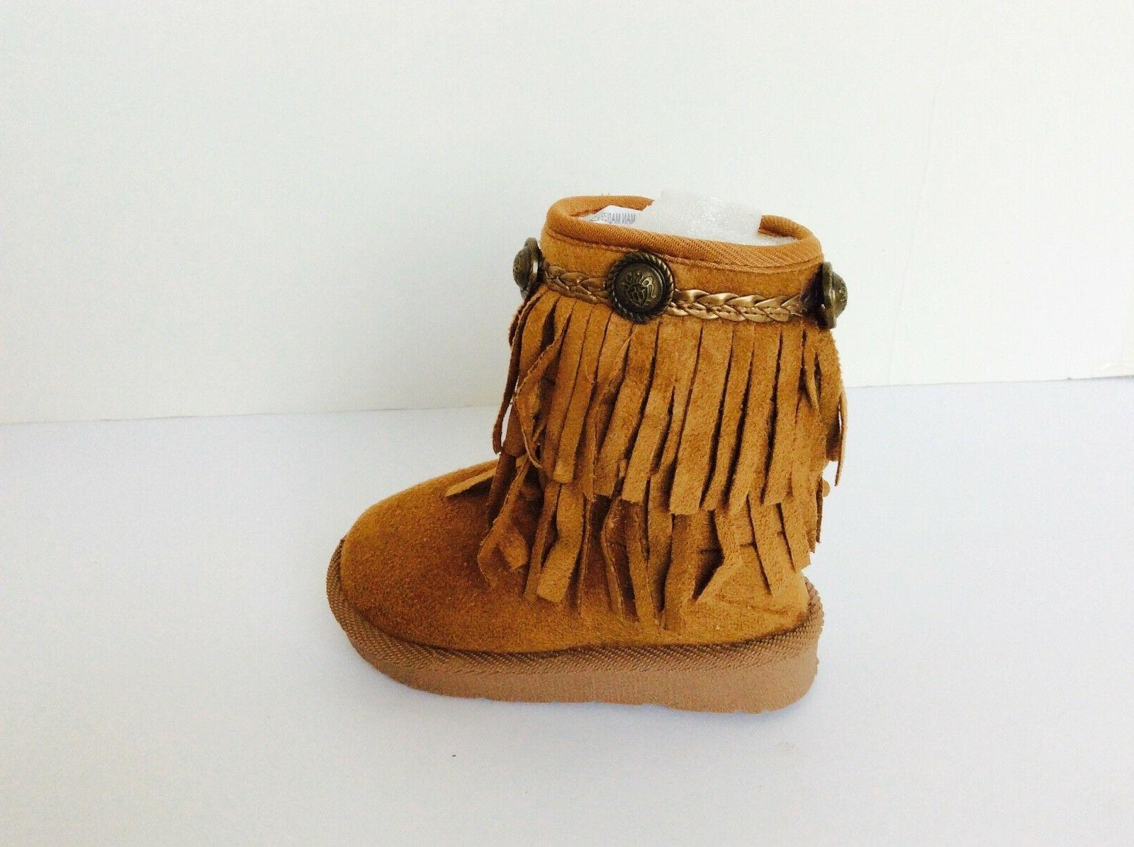 BABY TODDLER BOOTS FRINGE SHOES ZIPPER