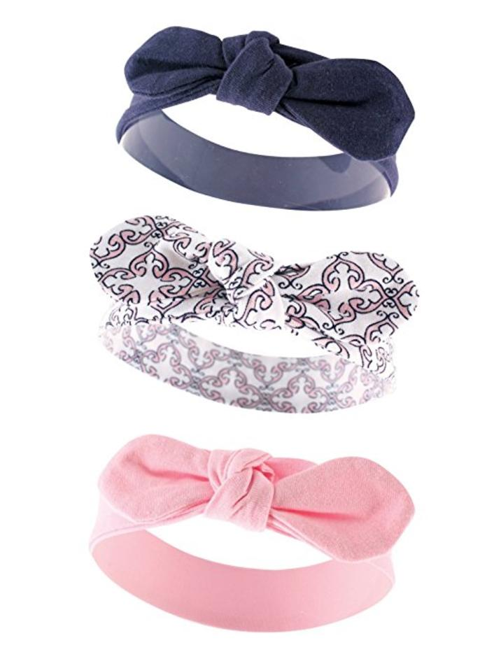 Yoga Sprout Baby Girls' 3 Pack  Bow Baby Headbands, Trellis
