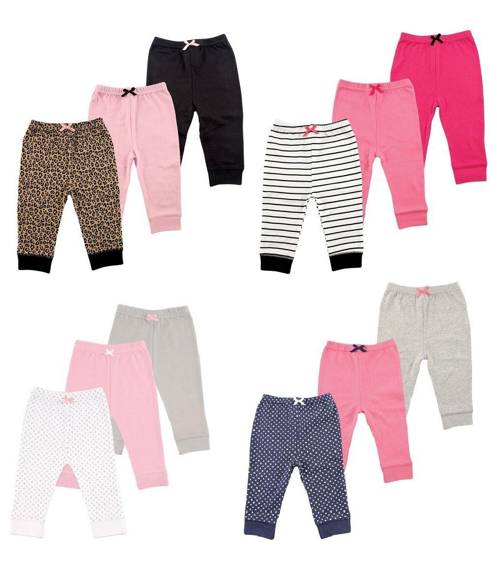baby girls 3 pack tapered ankle pants