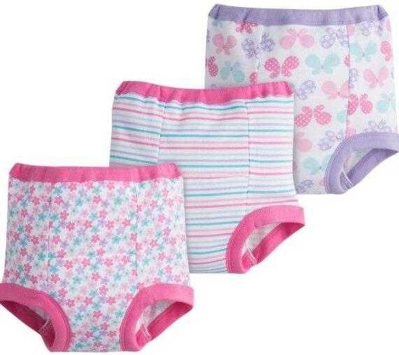 GERBER BABY GIRLS COTTON POTTY TRAINING PANTS - PINK - SIZE