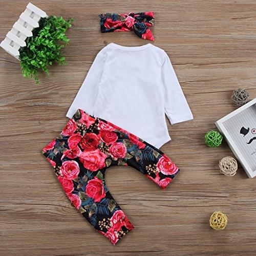 Baby Girls Little Bodysuit Bowknot Outfits