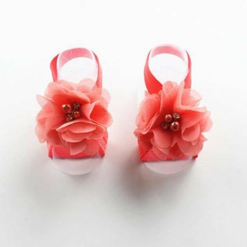 Baby Wrist Flower Foot Sandals Shoes