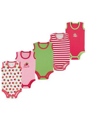 "Luvable Friends Baby Girls' ""Sweet Berry"" 5-Pack Sleeveless"