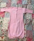 Gerber Baby Infant 0-6 Months Girl's Pink Layette Gown Mit