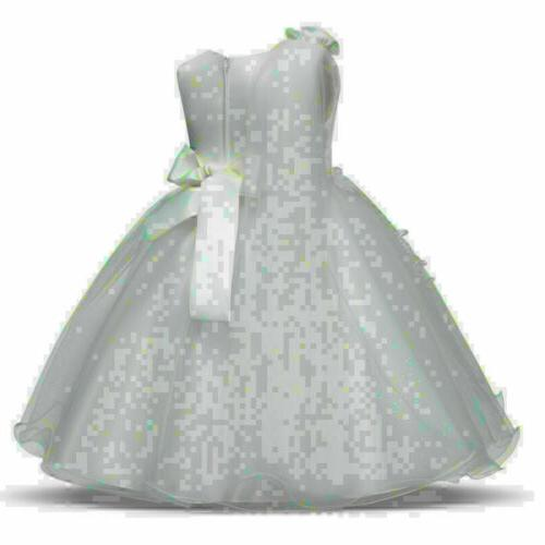 Baby Kids Party Dresses Tulle Lace