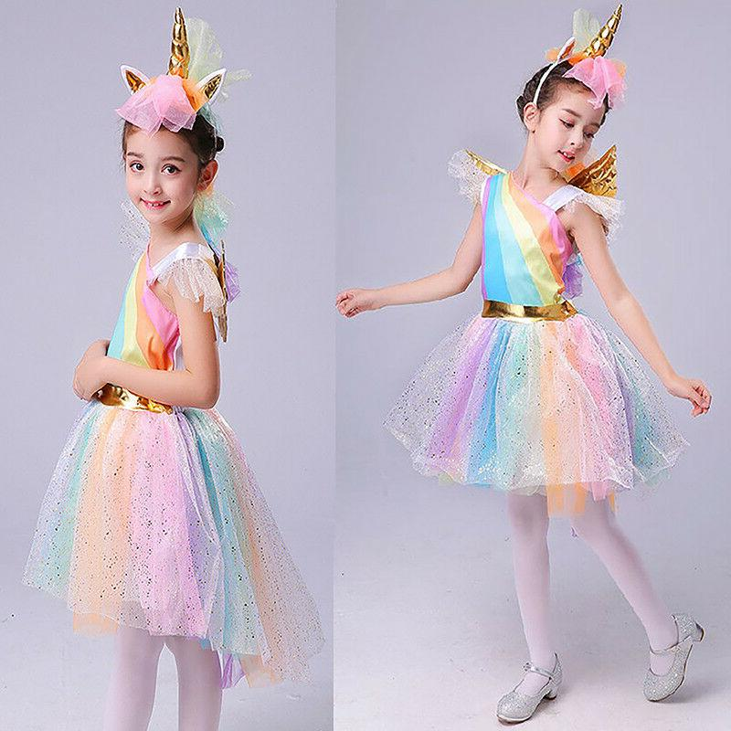 Baby Party Cosplay Costume Tutu Dress + + Headwear
