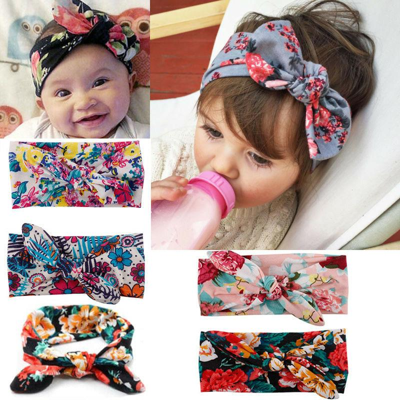 Baby Girls Bunny Rabbit Knot Turban Headband Hair Headwrap