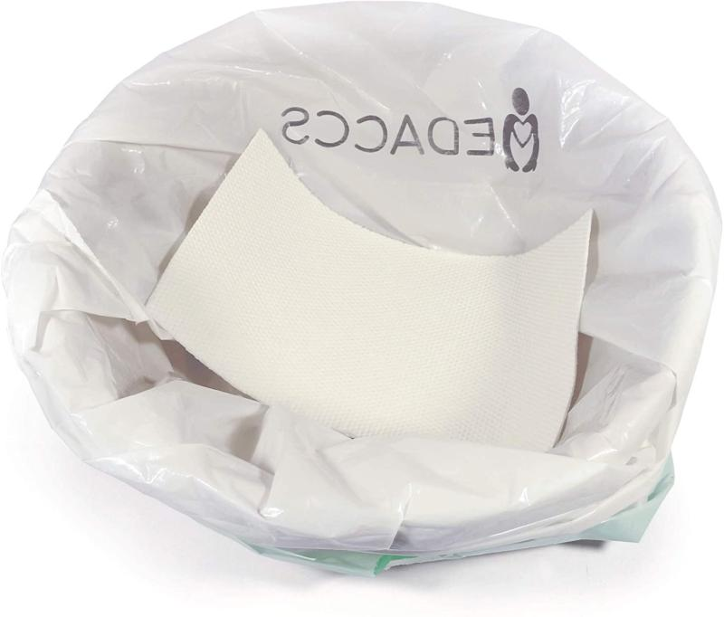 Bedside Commode Liners with Absorbent Pad Disposable Pack - for Sick