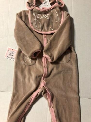 Juicy Couture Bege Baby Girl Piece Ruffle 3-6M Warm