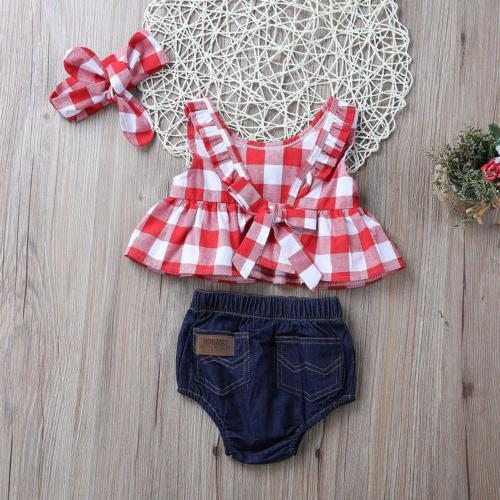 Canis Summer Clothes Dress Tops+Denim