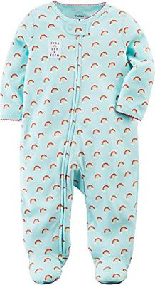 Carter's Baby Girls' Rainbow Zip Up Sleep and Play 9 Months