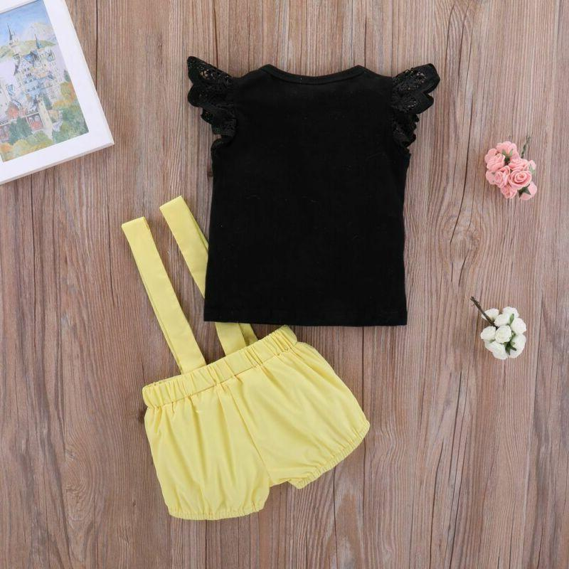 Cotton Sleeveless Suspender Pants Clothes