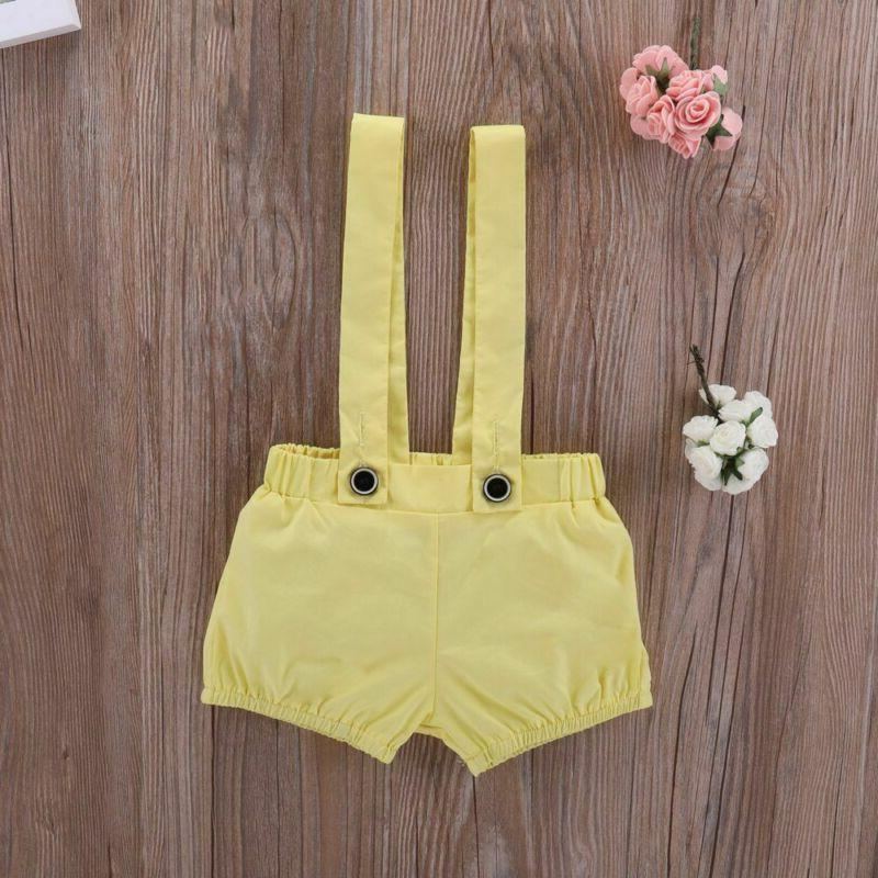 Suspender Pants Baby Girl Clothes Top