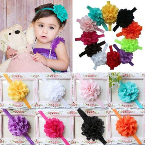 12Pcs Cute Girl Kids Newborn Baby Toddler Infant Headband He
