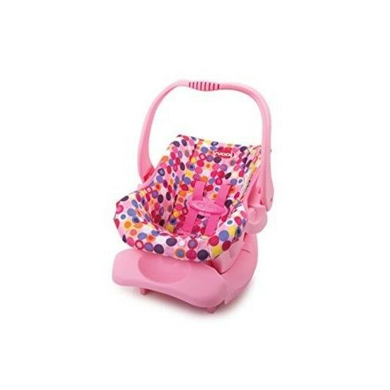 doll toy car seat pink dot carrier