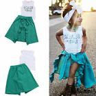 Emmababy Toddler Kids Girls T-shirt Tops+Short Pants Outfits