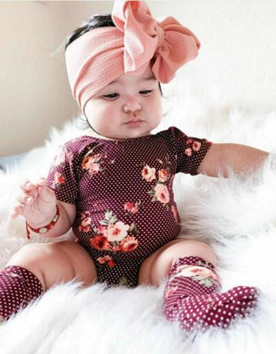 US Cute Kids Baby Flower Bow Accessories