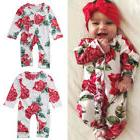 Fashion Toddler Kids Baby Girls Cotton Floral Jumpsuits Romp