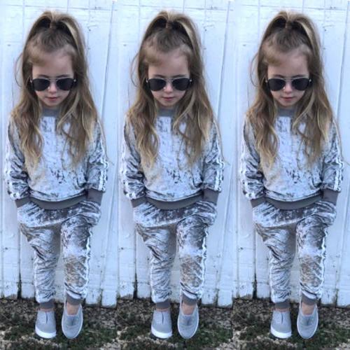 Autumn Toddler Girl Velvet Pants Outfits US