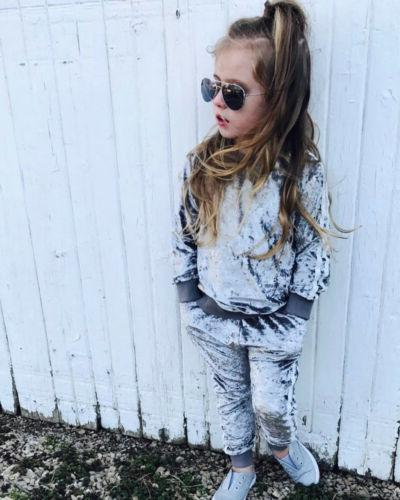 Autumn Kids Girl Top Pants Outfits US