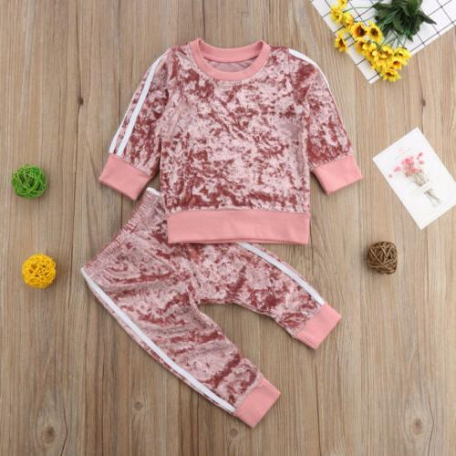 Autumn Toddler Kids Baby Girl Pants Outfits US