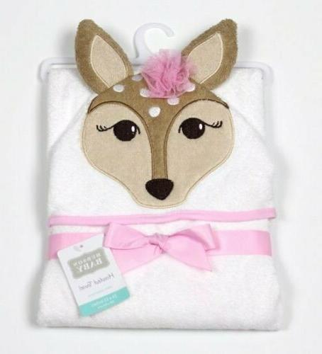 fawn animal face hooded towel
