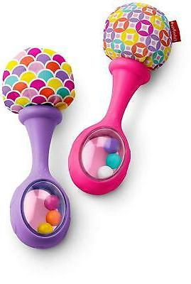 fisher price rattle n rock maracas pink