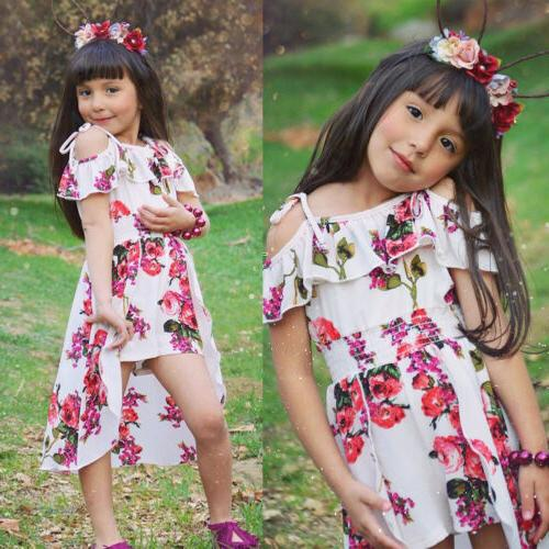Floral Toddler Girl Jumpsuit Outfits Dresses
