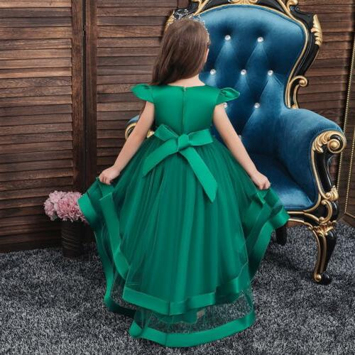 Girls Kids Party Dresses Princess Lace