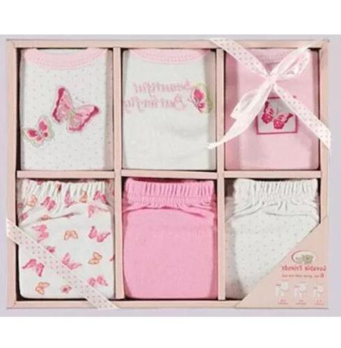 GROW WITH ME 6 Piece Luvable Friends Pink Baby Girl Pant Out