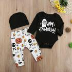Halloween Newborn Baby Boy Girl Clothes Romper Jumpsuit Pant