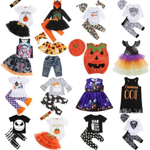 Halloween Newborn Toddler Baby Girl Boy Top Dress Long Pants