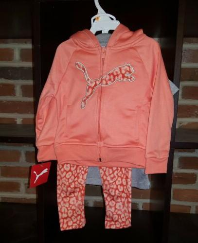 Infant Baby Girl's Puma Track Coral, Size Months