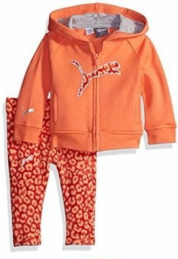 Infant Baby Girl's 3-Piece Puma Track Suit, Fusion Coral, Si