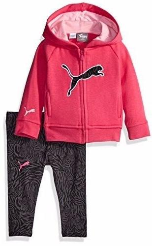 Infant Baby Girl's 3-Piece Puma Track Suit, Pink Glow, Size
