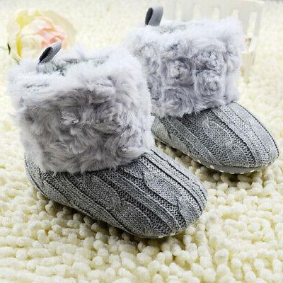 Infant Cotton Knit Boots Warm Crib Shoes