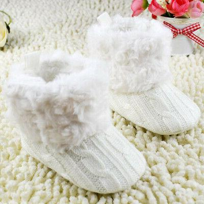 Infant Girl Cotton Boots Warm Soft Crib Shoes