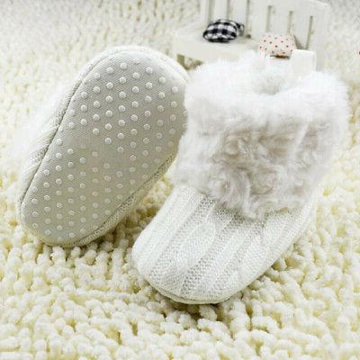 Infant Girl Winter Boots Warm Fur Soft Crib