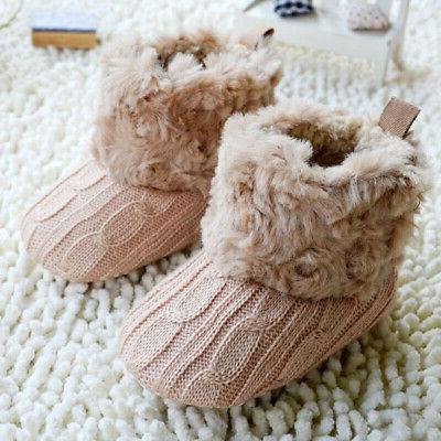 Infant Cotton Knit Fleece Boots