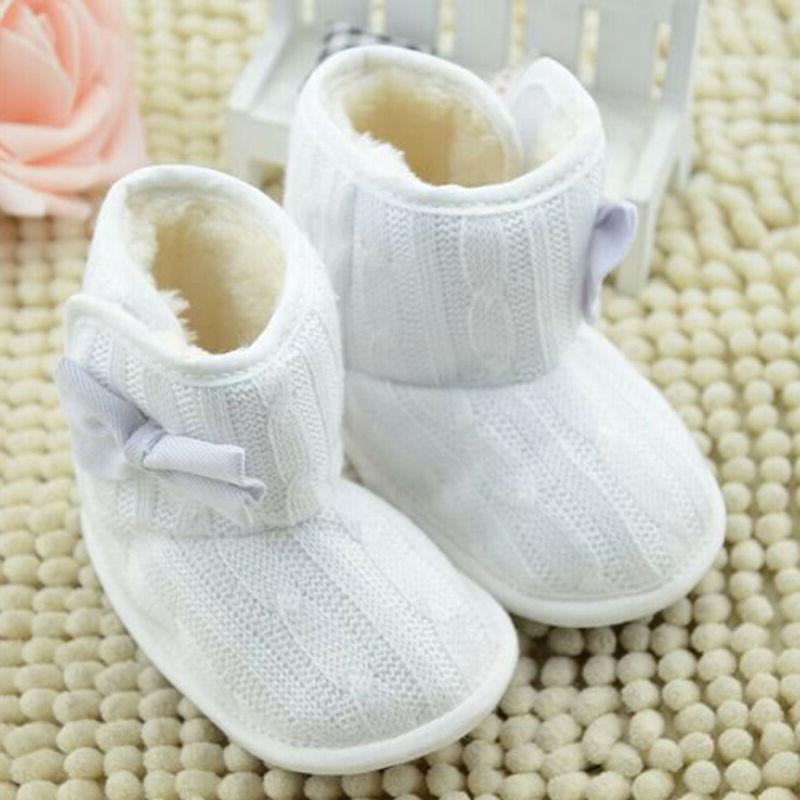 Infant Baby Cotton Knit Boots Warm Soft Crib