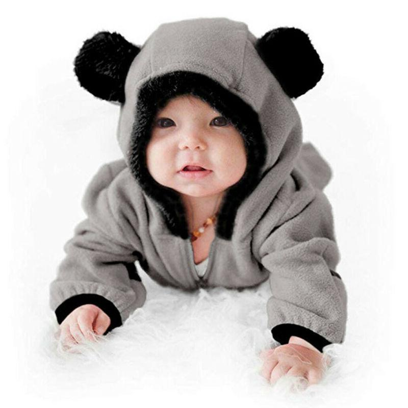 Infant Baby Kid Girl Boy Cartoon Hoodie Jumpsuit