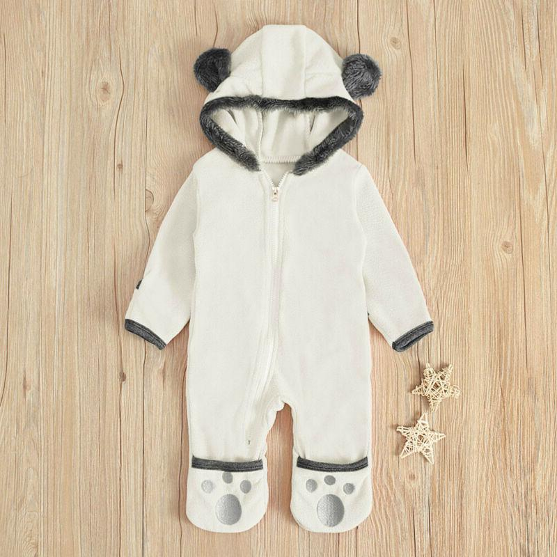 Infant Baby Boy Cartoon Hoodie Clothes Jumpsuit