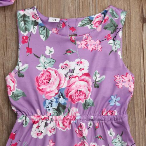 Toddler Sleeveless Jumpsuit Outfit