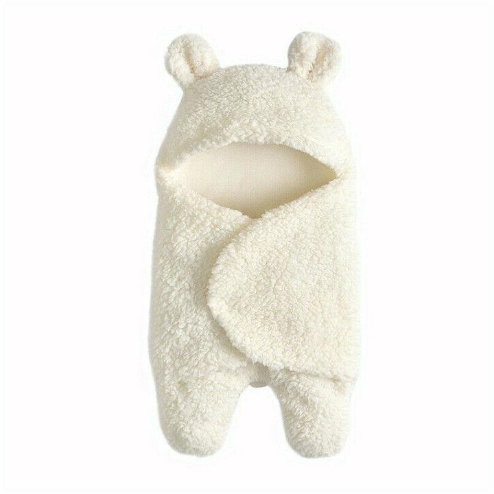 Infant Girl Soft Fleece Swaddle Blanket Sleeping Bag