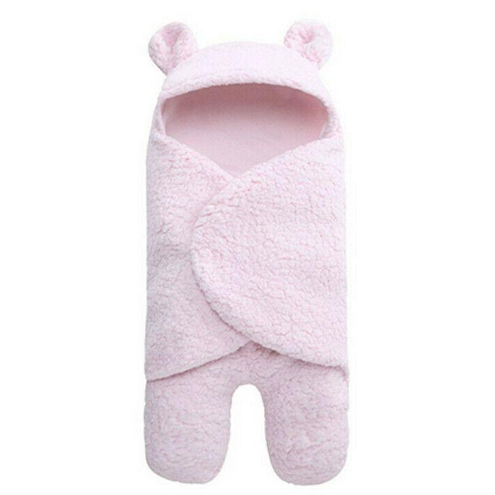 Infant Boy Girl Soft Fleece Swaddle Wrap Bag