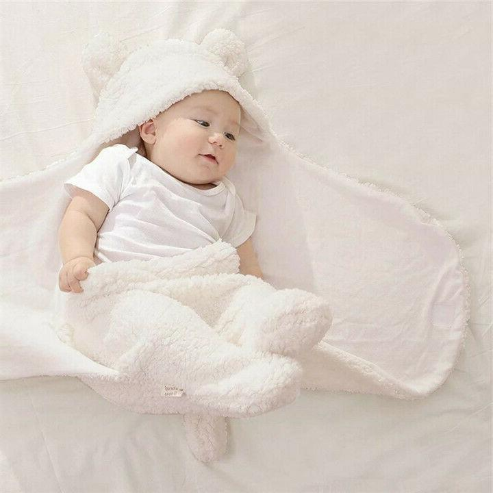 Infant Girl Soft Warm Swaddle Wrap Blanket Sleeping Bag